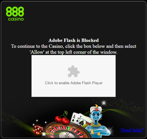 Chrome Adobe Flash Player Block | 888 com Support Center